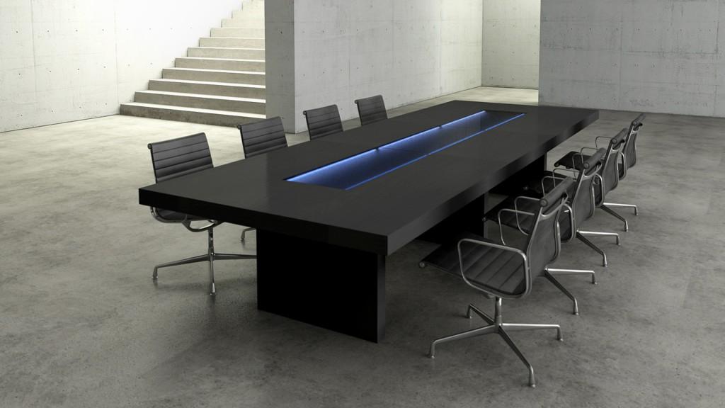 Mesas de reuni n mobiliario de oficina agaru for Medidas mesa oficina
