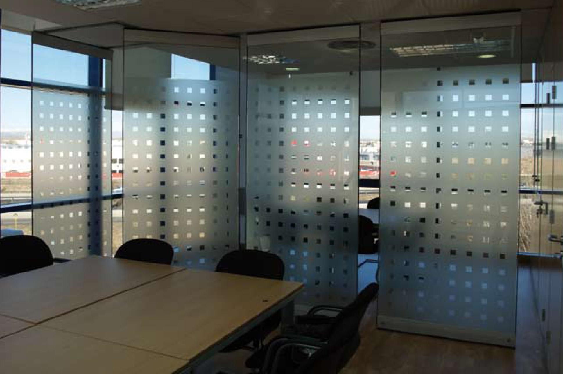 Tabique m vil cristal mobiliario de oficina agaru - Tabique de vidrio ...